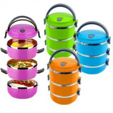 Deals, Discounts & Offers on Home Appliances - Easy Lock Triple Layer Stainless Steel Lunch Box