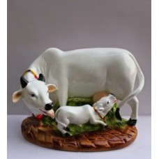 Deals, Discounts & Offers on Home Decor & Festive Needs - World Lovely Mother Cow Statue Showpiece