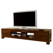 Deals, Discounts & Offers on Home Appliances - Contemporary Wooden TV cabinet unit stand with 2 drawers