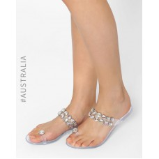 Deals, Discounts & Offers on Foot Wear - Flat 50% off on Embellished Jelly Flats