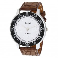 Deals, Discounts & Offers on Men - T STAR White Dial Brown Strap Round Analog Watch