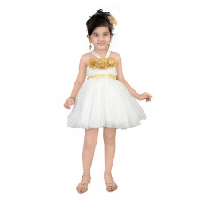Deals, Discounts & Offers on Kid's Clothing - Littleopia Off Shoulder Halter Neck Party Wear Frock