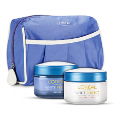 Deals, Discounts & Offers on Health & Personal Care - L'Oreal Paris White Perfect Day Night Cream With Free Travel Pouch