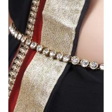 Deals, Discounts & Offers on Women - Lucky Jewellery Kamarband 1-line Stone Gold Polish Waist Belt