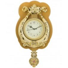 Deals, Discounts & Offers on Home Decor & Festive Needs - Wallace Golden Designer Pendulum Wall Clock