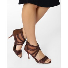 Deals, Discounts & Offers on Foot Wear - Strappy Stilettos With Mesh Detail
