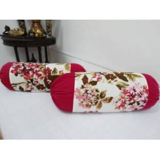 Deals, Discounts & Offers on Home Appliances - Flat 70% off on Heritagefabs Floral Bolsters Cover
