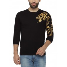 Deals, Discounts & Offers on Men Clothing - PepperClub Cotton Round Neck Full Sleeve Printed Tshirt