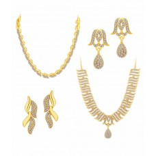 Deals, Discounts & Offers on Women - Sukkhi Golden Alloy Necklace Set