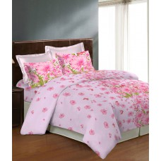 Deals, Discounts & Offers on Furniture - Bombay Dyeing Caelina Pink Double Bedsheet