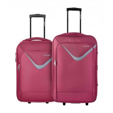 Deals, Discounts & Offers on Accessories - Safari  Small & Medium Red Victory 2 Wheel Soft Luggage