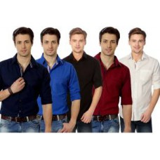 Deals, Discounts & Offers on Men Clothing - Flat 60% off on Suspense  Solid Casual
