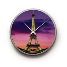Deals, Discounts & Offers on Home Appliances - Stybuzz Light Eiffel Tower Round Wall Clock