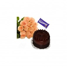 Deals, Discounts & Offers on Home Decor & Festive Needs - Flora Online Roses With Cake