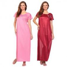 Deals, Discounts & Offers on Women Clothing - Upto 80% off on Raabta Fashion Satin Round Neck Nighty