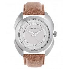 Deals, Discounts & Offers on Men - Laurels Brown Leather Analog Watch