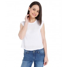 Deals, Discounts & Offers on Women Clothing - Flat 50% off on ONLY White Solid Top
