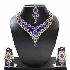 Deals, Discounts & Offers on Women - Zaveri Pearls Beautiful Blue Designer Necklace Set