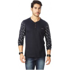 Deals, Discounts & Offers on Men Clothing - Rodid Solid  Henley Blue T-Shirt