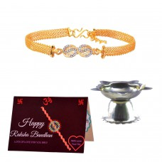 Deals, Discounts & Offers on Home Decor & Festive Needs - Jewellery Rakhi for Brother Gift Set