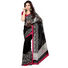 Deals, Discounts & Offers on Women Clothing - Vaamsi Floral Print Daily Wear Georgette Sari