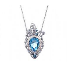 Deals, Discounts & Offers on Women - NEVI Swarovski Peacock Feather Designer Pendant Fashion Jewellery