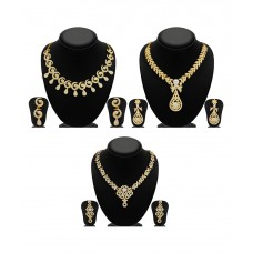 Deals, Discounts & Offers on Women - Sukkhi Zinc Gold Plated Australian Diamond Golden Necklace Set