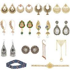 Deals, Discounts & Offers on Women - Flat 82% off on Earrings, Bracelet, Watch & Hair Accessory Combo
