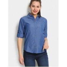 Deals, Discounts & Offers on Women Clothing - Wildcraft  Blue Regular Fit Shirt