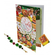 Deals, Discounts & Offers on Home Decor & Festive Needs - Rajlaxmi Red Greeting Card With Rakhi