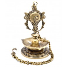 Deals, Discounts & Offers on Home Decor & Festive Needs - Two Moustaches Brass Hanging Shankh Diya