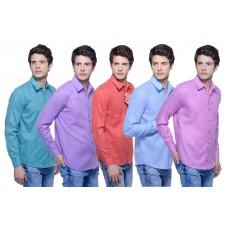 AskMeBazaar Offers and Deals Online - Combo Of 5 Trendy Shirts