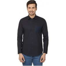 Deals, Discounts & Offers on Men Clothing - Qdesigns Solid Casual Black Shirt