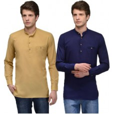 Deals, Discounts & Offers on Men Clothing - Feed Up Solid Straight Kurta