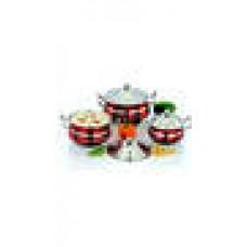 Deals, Discounts & Offers on Home & Kitchen - Mahavir Red Combo Cookware Set - 3 Pcs