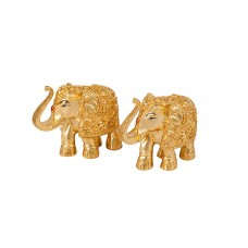 Deals, Discounts & Offers on Home Decor & Festive Needs - Siri Creations Gold Plated Small Size Elephant - Set Of 2