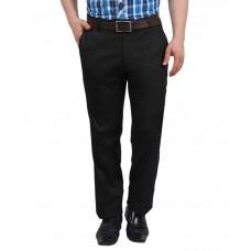 Deals, Discounts & Offers on Men Clothing - Solemio Black Slim Fit Flat Trousers