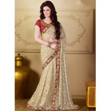 Deals, Discounts & Offers on Women Clothing - Upto 75% off on Beige Embroidered Saree