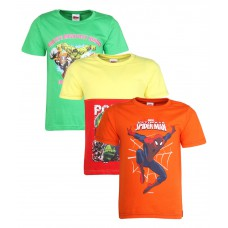 Deals, Discounts & Offers on Kid's Clothing - Upto 52% off on Marvel Orange Pack of 3 Tees