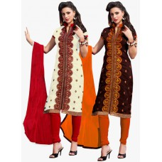 Deals, Discounts & Offers on Women Clothing - Upto 70% off on  Embroidered Dress Materials