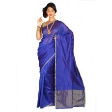 Deals, Discounts & Offers on Women Clothing - Pavechas Solid Banarasi Cotton Sari