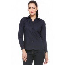 Deals, Discounts & Offers on Women Clothing - Fasnoya Formal Navy Blue Shirt