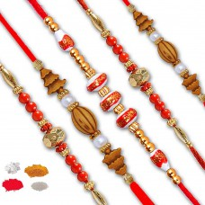 Deals, Discounts & Offers on Home Decor & Festive Needs - Flat 15% off on Pack Of 5 Fancy Rakhi,