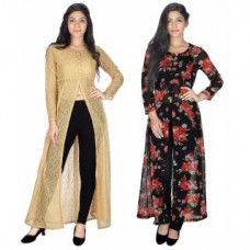 Deals, Discounts & Offers on Women Clothing - Upto 68% off on Sukuma  Front Slit Fusion Long Kurties