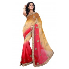 Craftsvilla Offers and Deals Online - Red Saree in Best Offer