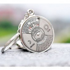 Deals, Discounts & Offers on Accessories - 50 years Calender date month year day time compass keychain keyring for key ring