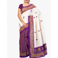 Deals, Discounts & Offers on Women Clothing - purple bhagalpuri art silk saree