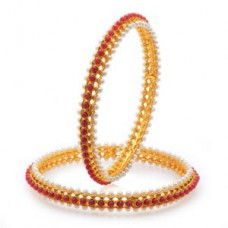 Deals, Discounts & Offers on Women - Sukkhi Artistically Gold Plated Moti Bangles