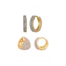 Deals, Discounts & Offers on Women - Jewels Galaxy Silver And Golden  Of Earrings