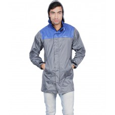 Deals, Discounts & Offers on Men - Versalis Gray Polyester Full Sleeves Rain Suit